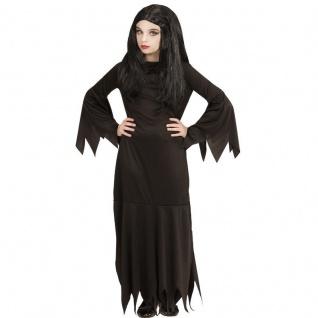 Mortisia Hexe Mädchen Kinder Kostüm Halloween von 5-16 J. Addams Dark Gothic