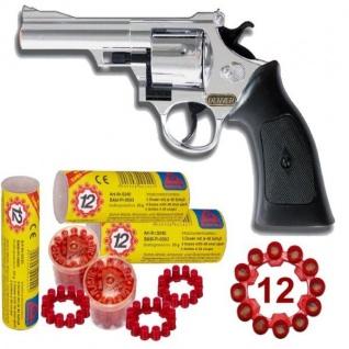 Western DENVER CHROM Pistole + 720 Schuss Munition Kinder Spielzeug Revolver