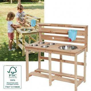 Matschküche aus Holz - Kinder Spielküche für den Garten -