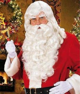 Santa WEIHNACHTSMANN Perücke und Bart zum Santa Kostüm Nikolaus Weihnachten