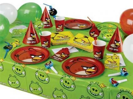 ANGRY BIRDS Party Deko AUSWAHL zum Kindergeburtstag Feier Geburtstag