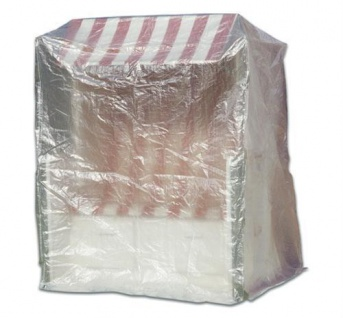Schutzhaube Schutzhülle Transparent 180x135x115 cm Möbelschutzhülle Strandkörbe