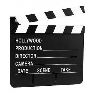 Regieklappe ca 18 x 20cm - Hollywood Film VIP Motto Party Deko