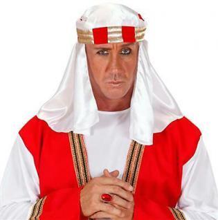 ARABER KOPFBEDECKUNG TURBAN Scheich Hut Kostüm Zubehör (9511) Karneval