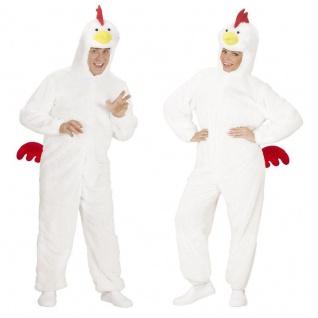 Huhn Plüsch Tier Kostüm Damen und Herren Hühnchen Karneval / Fasching Ostern