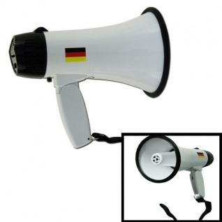 MEGAFON Megaphone 10 Watt Fußball Fan Fanfare Germany Deutschland Olé WM EM