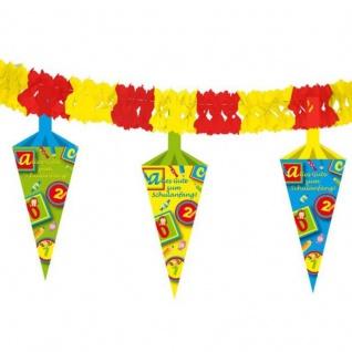 4 Meter Girlande mit Schultüte Schulanfang Einschulung Party Deko #1316