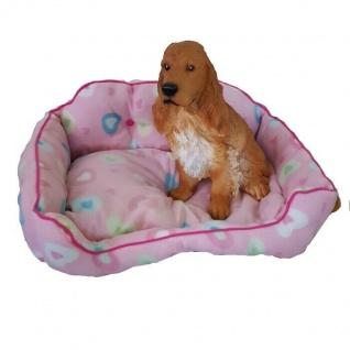 HUNDEBETT Hundekissen Hundesofa Hundedecke Katzenbett Hundekorb - pink -