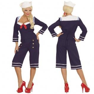 50er Pin-up Sailor Girl Damen Kostüm Matrosin Matrosengirl 34 36 38 40 42 44