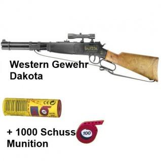 DAKOTA Western Gewehr mit 1000 Schuss Munition Kinder Spielzeug Cowboy Indianer