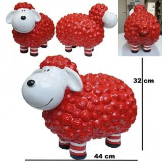 Figur Schaf Molly mit Socken groß - rot - 44 x 32cm Haus & Garten Deko #395