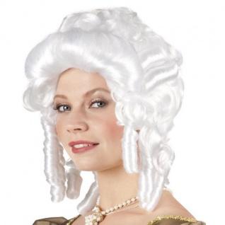 Barock Perücke Rokoko Damen Perücke weiß Faschingsperücke Baroness #6350