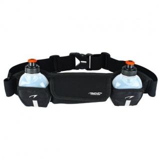 Laufgürtel mit zwei Trinkflaschen Radsport Sport Fitness Gürtel # 21OK