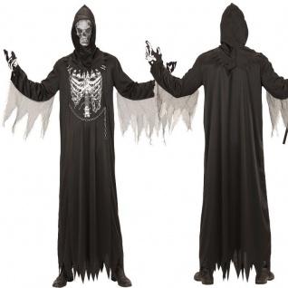 SENSENMANN TOD Erwachsenen Kostüm - Robe mit Kette + Maske - Halloween S, M, L, XL