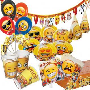 EMOJI Smiley Kinder Gepurtstag Party Deko Teller Becher - RIESEN AUSWAHL -