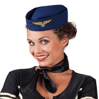 """Hut """" Stewardess"""" Mütze Schiffchen Flugbegleiterin"""