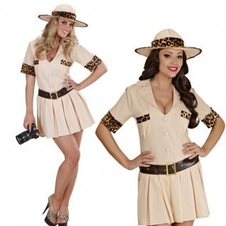 SAFARI GIRL sexy Damen Kostüm Gr. XL 46/48 - Damen Kleid Dschungel Jägerin #7565