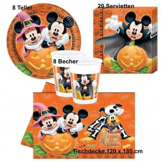 Micky Maus Mickey Mouse Halloween Party Set- Teller Becher Servietten Tischdecke