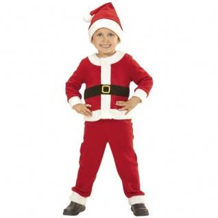 Kinder Weihnachtsmann Kostüm & Mütze Kleinkinder Jungen Nikolaus Santa Claus