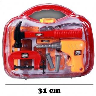 18 teilig Kinder Werkzeug Set im Koffer - Bohrmaschine Hammer Zwinge und und