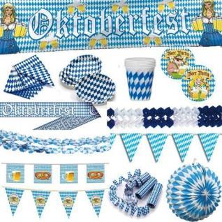 OKTOBERFEST blau weiss Deko Bayern Party Bavaria bayrische Deko AUSWAHL