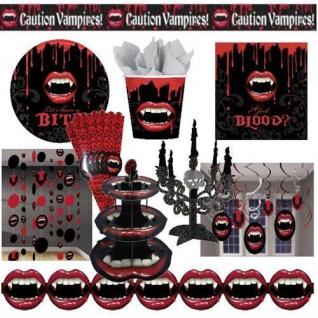 Halloween Party Deko Vampirbiss, Riesen AUSWAHL Teller Becher Servietten Tisch
