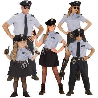 POLIZIST POLIZISTIN Familien Polizei Kostüm Herren Damen Mädchen Jungen AUSWAHL