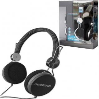 GRUNDIG Original STEREO KOPFHÖRER -schwarz- Cool Color 105dB TV Heim-Audio MP3