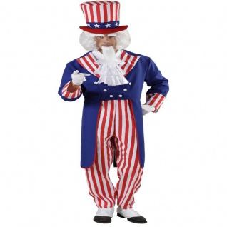MR. AMERICA 48/50 (M) Uncle Sam Stars und Stripes Amerika Herren Kostüm #9162