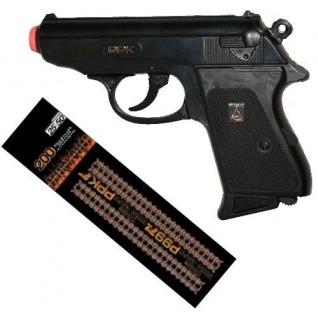 PPK Spezial Agent Knall-Pistole mit 200 Schuß Munition Kinder Spielzeug