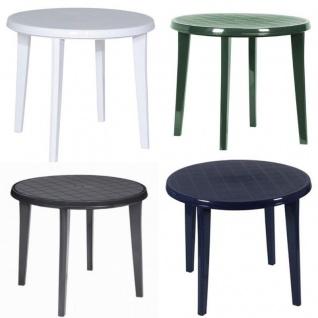 90 cm Gartentisch Vollkunststoff Tisch Lisa 90 cm rund Tisch aus Kunststoff