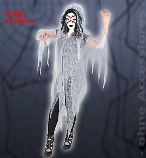 Geist Halloween Oberteil 1tlg. mit Kapuze Vampir Dracula Unisex 1tlg. Gr: XL