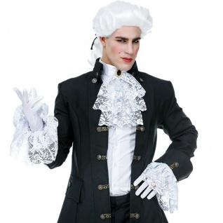JABOT AUS SPITZE MIT EDELSTEIN & MANSCHETTEN 3-tlg. Kostüm Zubehör -Vampir Gotic