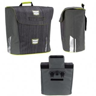 FAHRRADTASCHE Gepäckträger Fahrrad Tasche Gepäcktasche Anthrazit/Limone (ANL)