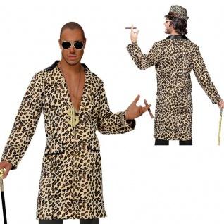 Leoparden Mantel - Pimp Daddy Macho Prolet Checker Hustler - Herren Kostüm