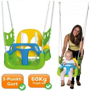 3in1 KINDER-SCHAUKEL für Kleinkinder mit Kipp-Schutz höhen-verstellbar robust