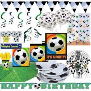 Kinder Geburtstag Fussball Party Deko Geschirr RIESEN AUSWAHL