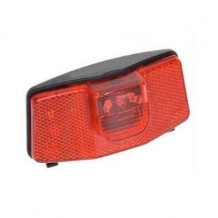 LED Rücklicht mit 3 LED für Gepäckträger und Dynamoanschluss StVZO #0062