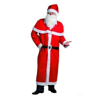 Weihnachtsmann Kostüm Set 5 teilig - Mantel, Mütze, Bart, Cape ?Nikolaus Set