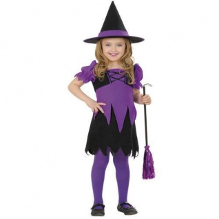 4-6 J. Zauberhafte Hexe Kinder Kostüm 110//116 Mädchen Halloween Zauberin #8030