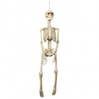 SKELETT 90 cm dreidimensional Hänge Deko Halloween Party