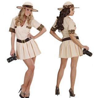 sexy Damen Kostüm - SAFARI GIRL - Kleid Dschungel Jägerin Jungel Karneval Fasch