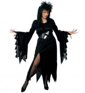 WOW Hexe Damen Kostüm schwarz ELVIRA Gr. 46/48 (XL) Halloween Hexenkleid