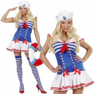 Sexy Matrosin Damen Kostüm Gr. L 42/44 - Marine Seemann Marina Karneval #9663