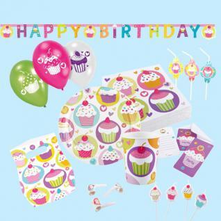 CUPCAKE Kinder Geburtstag Kuchen Party Deko Geburtstags-Set