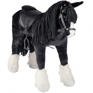 XXL Plüsch Pferd SHIRE HORSE Reitpferd Kinder Spielzeug Happy People 58046