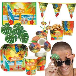BEACH STRAND HAWAII Motto Party Deko - Riesenauswahl - Sommerfest Gartenparty