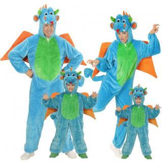 Drache Plüsch Kostüm für Kinder und Erwachsene Unisex - Karneval Fasching Tier