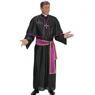 DELUXE KARDINAL Kostüm violett Herren Gr 48 (S) - Kirche Papst Priester #3991