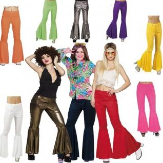 70er 80er Jahre Schlaghose Damen (M) 38-40 Hose Kostüm Flower Power Hippie Hippy